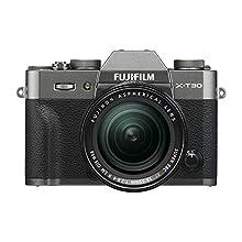 Fujifilm X-T30 Mirrorless Digital Camera w/XF18-55mm F2.8-4.0 R LM OIS Lens, Charcoal Silver