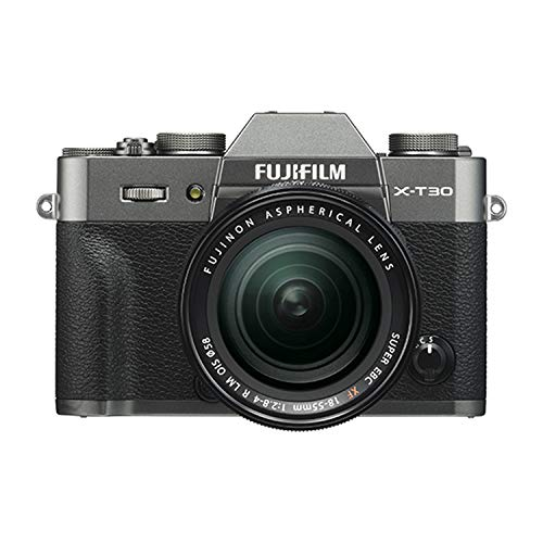 Fujifilm X-T30 Mirrorless Digital Camera w/XF18-55mm Kit - Charcoal Silver
