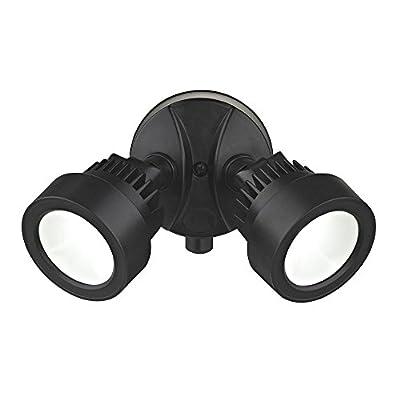 LED Flood Security Light 2 Heads Black