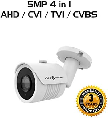 Ares Vision 5 MP 4 in 1 AHD TVI CVI CVBS 3.6MM Bullet CCTV Camera w IR Night Vision