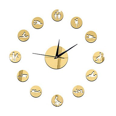 DIY Sexual Position Clock 24Hours Sex Clock Novelty Adult Only Wall Clock Sex Position Clock,Golden by Clocks CC