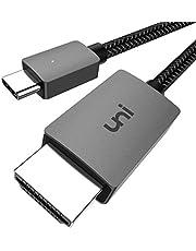 uni USB C naar HDMI-kabel USB Type C naar HDMI-kabel (compatibel met Thunderbolt 3) tot 4K, compatibel met iPad Pro 2020/2018, MacBook, Samsung S20 en meer - 1,8 m