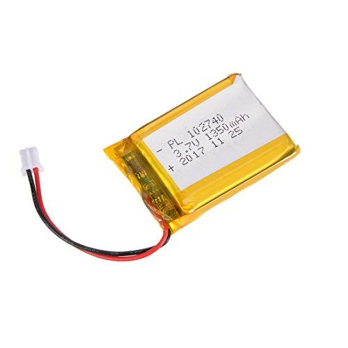 Capacity 1350mah Li Ion Battery (uxcell Power Supply DC 3.7V 1350mAh 102740 Li-ion Rechargeable Lithium Polymer Li-Po Battery)