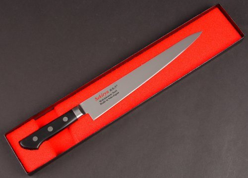 Sekiryu Molybdenum steel POM Pattern muscle knife kitchen knife 240 mm SR - M