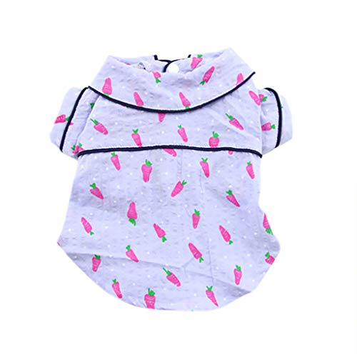Yellsong-Dog Puppy Shirt Clothing Cat Cotton Lapel Costume Apparel - Western Plaid Dog Clothes for Pet Pet Spring and Summer Shirt Printing Two-Legged Dog Thin Clothes