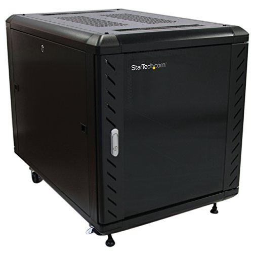 Speed Depth System - StarTech.com Portable Server Rack Cabinet - 12U Server Rack - 36in - with Glass Door - Network Cabinet - Rolling Server Rack with Casters