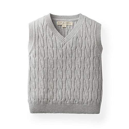 Hope & Henry Boys' Grey Cable Sweater Vest