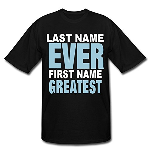 Hugogo Durable Discount Last Name Ever First Name Greatest Black Men's T-Shirt S (Last Name Ever First Name Greatest T Shirt)