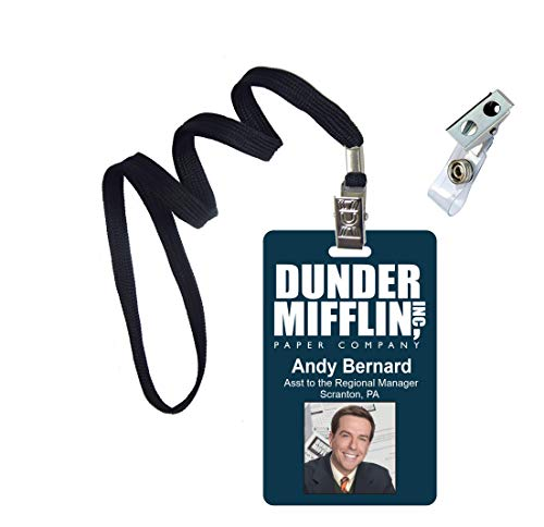 Andy Bernard The Office Novelty ID Badge Film Prop for Costume and Cosplay • Halloween and Party Accessories -