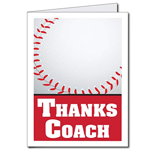 VictoryStore Jumbo Cards: Giant Thank You Coach Card 2' x 3' with envelope (Baseball Coach)
