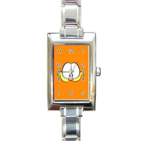 Garfield Rectangle Italian Charm Watch