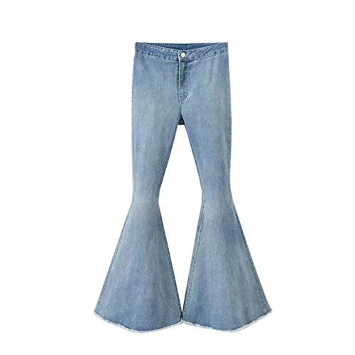 Sciolto Denim Donne Blu Legging Forma Alta In Wanyang Casuale Pantaloni Jeans Vita xXHFpFYq