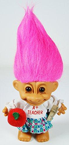 My Lucky A+ TEACHER Troll Doll (Hot Pink Hair) ()