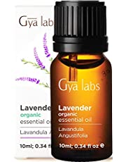 Gya Labs Lavender Essential Oil Organic For Stress Relief, Relaxation & Sleep - Topical Use For Dry Skin, Acne Treatment & Pain Relief - 100% Pure Therapeutic Grade For Aromatherapy Diffuser - 10ml