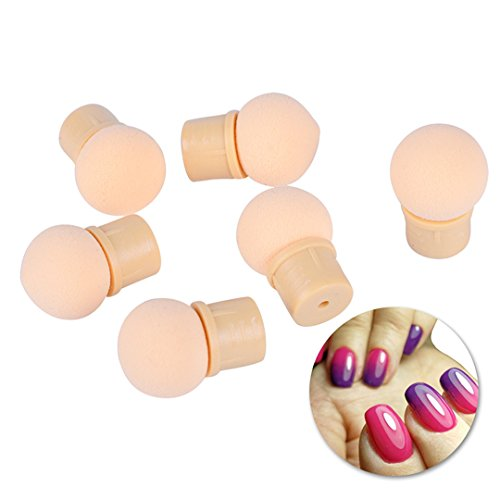 WEIHUALI 6PCS Reusable Double Gradient Sponge Nail Art Decor Brush Replaceable Blooming Printing UV Gel Nail Sponge CH524 by WEIHUALI
