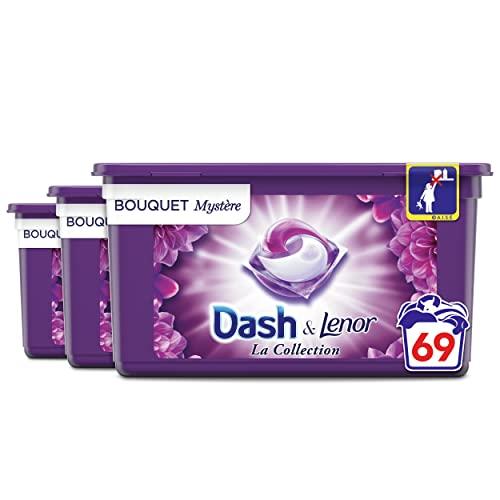 Dash Allin1 Lessive Capsules Collection Divine Envie, 69 Lavages (23 Pods x 3), Avec Une Touche De Fraîcheur Lenor