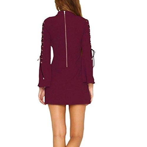Del Formato Del Di Vestito Dell'anca Pacchetto Comodi Puro Manicotto Più Colore Chiarore Donne Fasciatura Pattern1 Dalla qIwzPxf