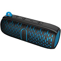Portable Bluetooth Speaker - Silicone Design for Outdoor and Sports Use - Rain and Splash Proof - Stereo, AUX Line In, Mic and Speakerphone - 6.5 x 2.5 by ZoomTech
