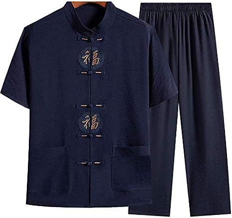 ZZX Camisa De Camisa para Hombre Chino - Arte Marcial Tradicional Kung Fu Tai Chi Wushu Estilo Clásico Tangzhuang Uniforme De Entrenamiento Primavera Otoño Ropa De Ocio: Amazon.es: Deportes y aire libre