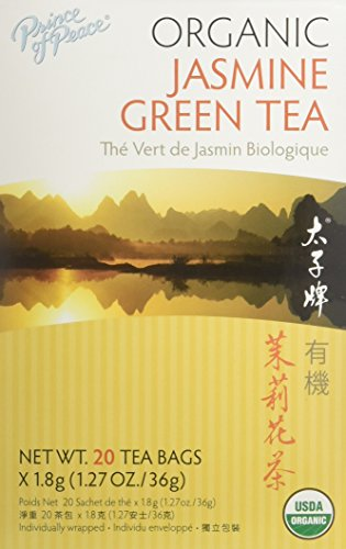 PRINCE OF PEACE Organic Jasmine Green Tea 20 Bag, 0.02 Pound (6 Formula Ounce Bag)