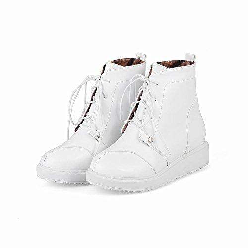 Draagarmen Damesmode Comfort Lente & Herfst Veterboots Oxfords Laarzen Wit
