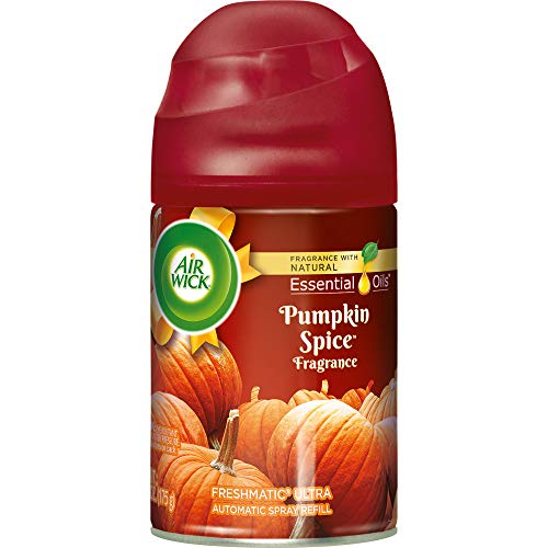 Air Wick Holiday Freshmatic Automatic Spray, Pumpkin Spice, 6.17oz, Air Freshener