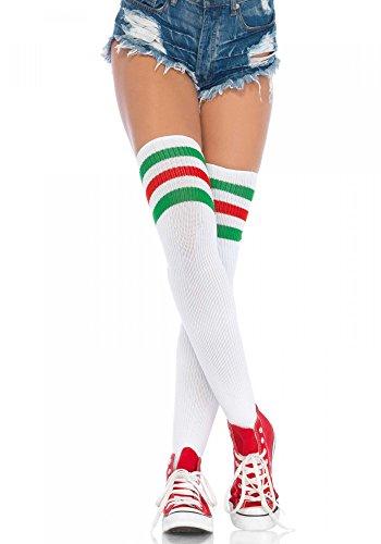 Socks Knee - With Skulls(Black/Pink/One Size - Pink Skull Knee Socks
