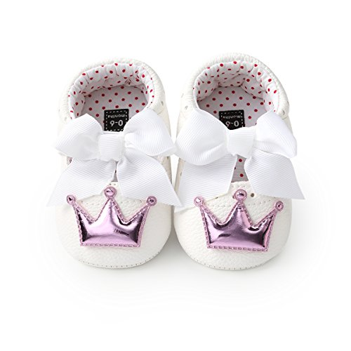 Meckior Baby Girls Sandals Infant Fanshion Princess Shoes (6-12 Months, B-White Purple) (Shoes Purple Baby)
