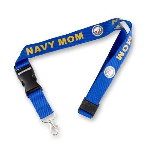 Navy Mom Lanyard