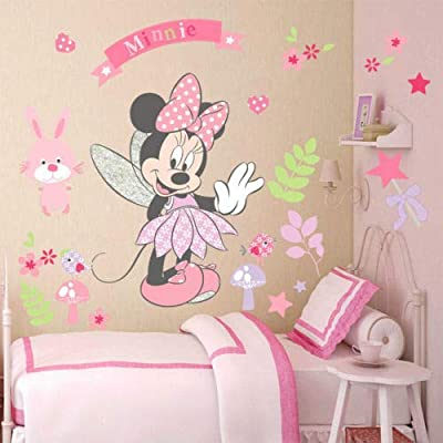 Minnie Mouse Wall Stickers Vinyl Decals Kids Girls Nursery Baby Room Decor: Kitchen & Dining