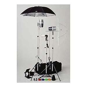 JTL TL-365 Light Kit, 2 Versalight, 1 Slave Strobe with Stands, Umbrellas, & Accessories