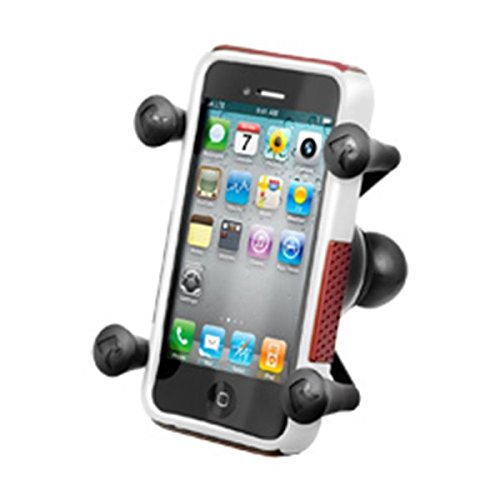 Motorcycle Mount (Ram Mount Cradle Holder for Universal X-Grip Cellphone/iPhone with 1-Inch Ball - Non-Retail Packaging - Black)