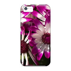 Defender Cases For Iphone 5c, Purple White Daisies Pattern