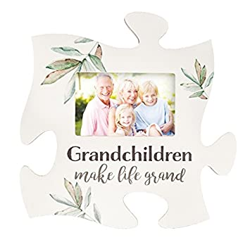 Amazon.com - Grandchildren Make Life Grand White 12 x 12 Wood Puzzle ...