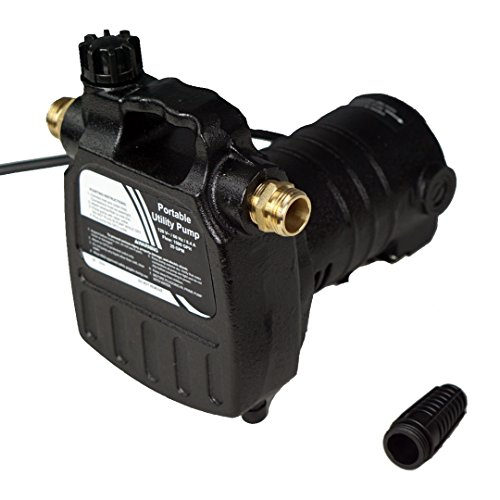 HydraPump Pro - 115-volt 1/2HP 1500 GPM Portable Transfer Water Pump with Cast Iron Casing and Brass Connectors for Use with Standard 3/4' Hose