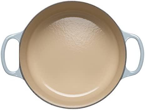 LE CREUSET Evolution Cocotte con Tapa, Redonda, Todas Las Fuentes de Calor Incl. inducción, 4,2 l, Hierro Fundido, Azul (Coastal), 24 cm