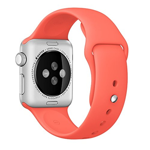Apple Watch Band - Vitech Soft Silicone Sport Style Replacement iWatch Strap Band for Apple Wrist Smart Watch (Apricot, 42MM S/M) by Vitech