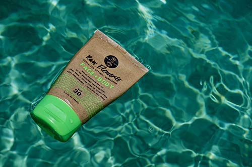 Raw Elements Certified Natural Sunscreen | Non-Nano Zinc Oxide, 95% Organic, Very Water Resistant, Reef Safe, Non-GMO, Cruelty Free, SPF 30+, All Ages Safe, Moisturizing, 3oz