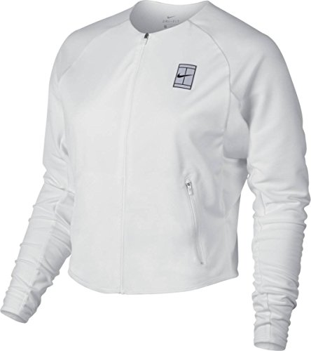 Nike Womens Mesh Inset Tennis Athletic Jacket White M Court Womens Track Jacket