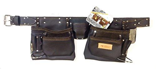 McGuire-Nicholas 10-Pocket Full Grain Leather Nail & Tool Apron Carpenter - Leather Nicholas