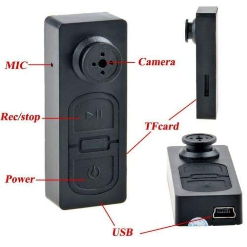 Amazon.com : Mini T-Shirt Button Hidden DVR Camera Pinhole Camcorder 30fps Peep Surveillance : Camera & Photo