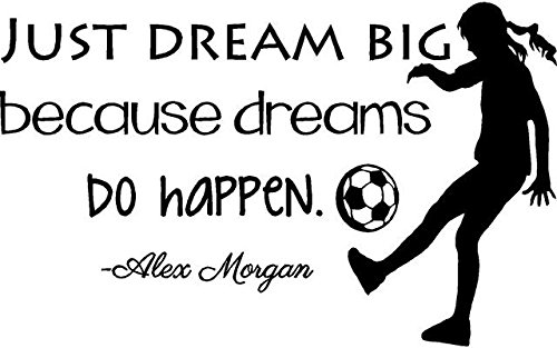 Alex Morgan Soccer Quote | Girl's Vinyl Wall Decal / Decor - USA World Cup Football Decoration - 20