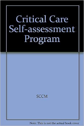 Amazon com: Critical Care Self-assessment Program