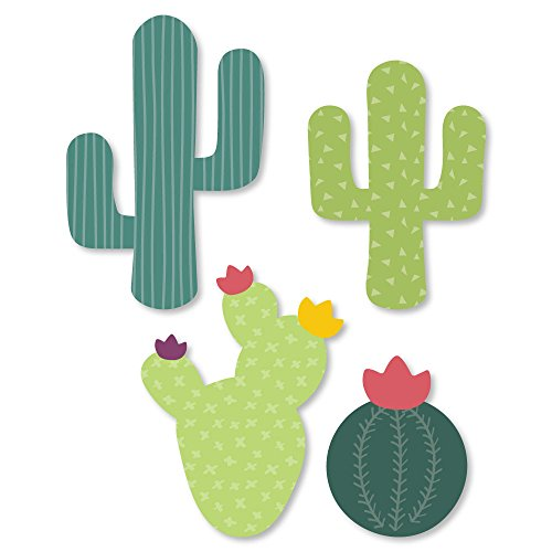 Big Dot of Happiness Prickly Cactus Party  DIY Shaped Fiesta Party CutOuts  24 Count