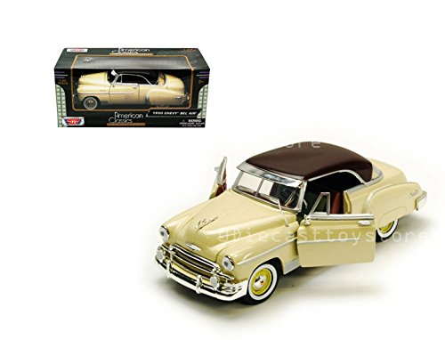 T TOYS CAR 1:24 WINDOW BOX AMERICAN CLASSICS 1950 CHEVROLET BEL AIR COUPE 73268AC-YL ()