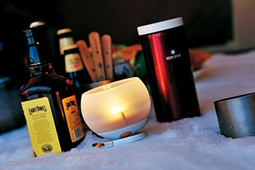 Snow Peak Hozuki LED Candle Lantern, White/Orange by Snow Peak (Image #1)
