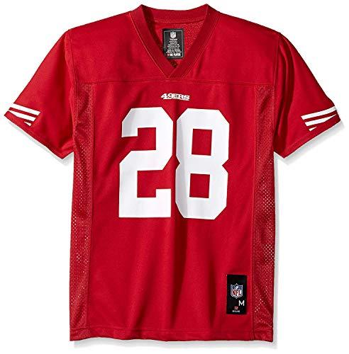 NFL San Francisco 49Ers Boys Player Fashion Jersey, Crimson, Large (San Francisco 49ers Jersey)