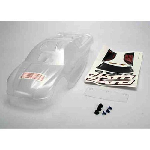 Traxxas 5511 Clear Jato Body with Wing and Decal - Wide Wing Body