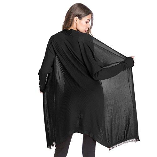 Gradient Solide Lache Femme Veste Cardigan Tricot PtUqPAYz