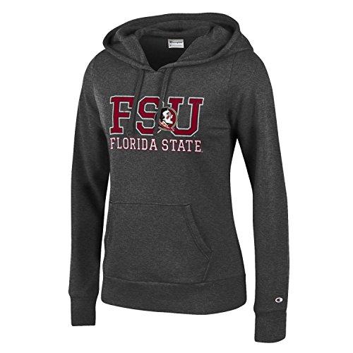 Champion NCAA Women's Comfy Fitted Sweatshirt University Fleece Hoodie Florida State Seminoles X-Large